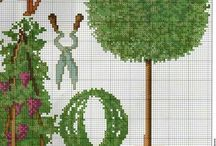 cross stitch garden,doors...