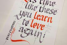 calligrafie en schoon schrift