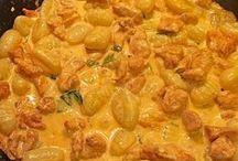 curry gnocci mit Hähnchen