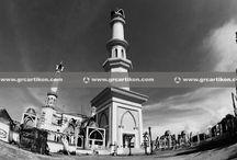 atap GRC Masjid Islamic Center Mataram By GRCartiKON