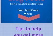 My Blog / Here you can find pins from my website, www.terricrucewrites.com.  Tips, training, and info on how to hire me to help you with your blogging needs.