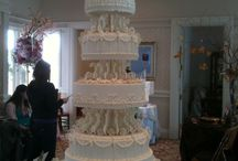 Cakes! Nice Day for a White Wedding / White, Cream, Silver / by Kym Gould