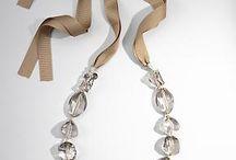 ribbon bead necklace