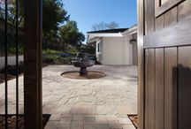 15 Backyard Summer Ideas / Get some ideas for your dream backyard home remodel. These backyards include interlocking paver stones for pool decks and firepits.