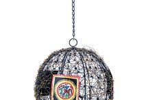 Ball Shaped Hanging Tea Light Holder With Worli Work