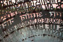 Lettersculpturen