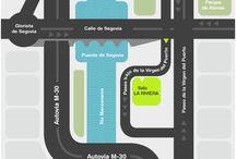 Mapas hacia Salas de Conciertos / La Riviera_Madrid