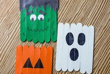 Halloween Crafts / Fun activities and crafts for the kids (or the adults) that can be used as decorations around the house!