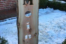 Besonderes in Holz / Schneeschieber für Kinder von ca. 3-6 Jahren