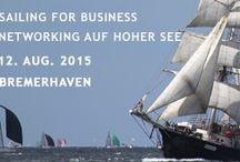 """Netzwerken hart am Wind - Sailing for Business - SAIL2015 / Netzwerkenauf der Bark """"Mercedes"""" am Abend des 1. Tages der SAIL 2015 in Bremerhaven.  Mehr Events http://xing.to/Nordwest"""