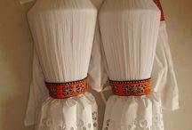 Kroj, lidový oděv, folk clothing / Součástky krojů, lidového oděvu.