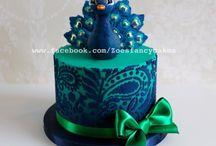 peacock cakes
