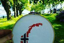 Maps cross stitch