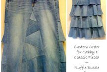 Born Again Jeans by E.Klectics / Custom made skirts on www.BornAgainJeans.com / by Grace Konzelman