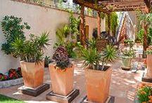 Style patio garden