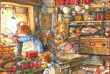 Illustraties en tekeningen van Brambly Hedge