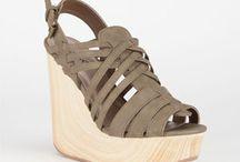 Wedge shoe. And.  Heels
