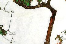 Egon Schiele trees