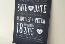 Wedding cards / Trouwkaarten. Wedding stationery. Persoonlijk en op maat gemaakt. www.studiosproet.com