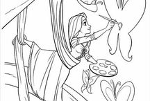 Tangled/Repunzel Coloring Pages
