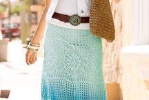 Crocheted skirts/dresses