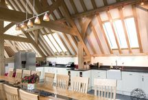 Timber Frame Kitchens / Timber frame kitchens, part of timber frame houses by Carpenter Oak Ltd - creators of hand crafted timber frame buildings.