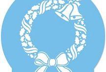 Στένσιλ Christmas / https://www.123-mpomponieres.gr/stensil-christmas.html