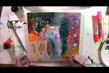 art video tutorials and workshops / art videos, art tutorials, art workshops, mixed media art, painting, art journaling, art retreats, mixed media techniques, mixed media collage