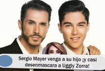 Sergio Mayer venga a su hijo ¡y casi desenmascara a Uggly Zorra!