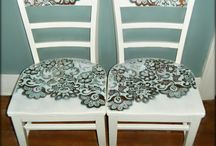beautiful lace patterned chairs