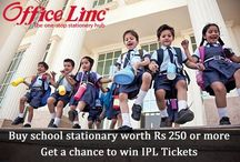 OfficeLinc IPL Contest / Shop for all your school stationary, before the new session starts from www.officelinc.com Shop for Rs 250 or more and stand a chance to win IPL Tickets and other exciting gifts from #LincPens Hurry!