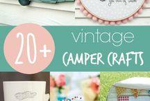 Vintage-Caravan Basteltipps / Vintage Camper Crafts - coole & praktische Bastelideen für den Oldtimer-Wohnwagen