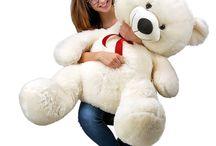 Christmas Gift Teddy Bear Large White Giant Big Soft Plush Kid Boy Girl Friend