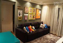 Sala de estar retro