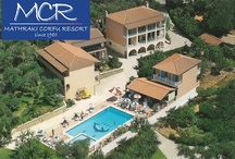 Mathraki Corfu Resort / The resort, pool and Veranda Restaurant.
