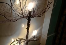 The Rose / Handmade floor lighting made with iron,aluminum wire and love...