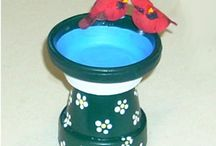 Clay pots crafts / by Leslie Green