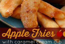 Apple fries with dip