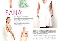 """SANA' in Special Magazine! / Un numero: """"100% made in Lebanon""""."""