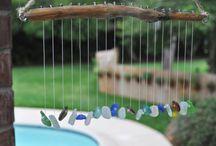 Shells Driftwood Beach Glass