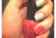 """Nail Design / Playing with colour combinations. OPI """"My Chihuahua Bites!"""" as feature with Australis """"Sweetpea"""" main"""