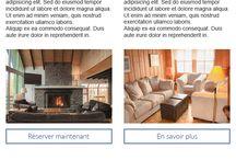 Infolettres Template Newsletters / Quelques exemples de gabarits d'infolettres designés pour nos clients hôteliers, qui leur permettent de concevoir leurs propres infolettres personnalisées.