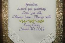 Grandma Personalized Embroidered Wedding Hankerchief