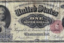 Silver Certificates / Colonial Currency of the 1700's, Confederate and Fractional Currency of the 1860's, United States Notes, Silver Certificates, Gold Certificates, National Currency and Federal Reserve Notes are among the currency LCGON inventories. Historically relevant, each series in part tells the story of U.S. history and economy. Artistically rendered, and symbolically rich, they are esthetically pleasing to collect.