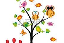 Árboles con pajaros