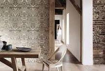 Moodboard 2.OG (Textilwaren Baumwollspinner) / - Textilien, Wandbespannungen, Texturen, Zusammenspiel von Materialien - Hotelzimmer/Bad