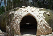 Espaces sacrés / L'architecture au service de manifester la vision humaine! Des matières nobles qui enveloppent les structures.