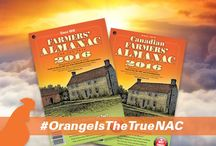 We're Painting The Week ORANGE! / For the launch of our 2016 edition of the Farmers' Almanac, Aug. 24th - Aug. 29th, we're dedicating the week to all things ORANGE, like our cover! #OrangeIsTheTrueNAC / by Farmers' Almanac