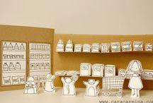 Cardboard / cartón / Cosas de cartón