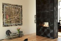 Room Dividers: Fireplaces / Use a Spark Modern Fire to help divide your open room
